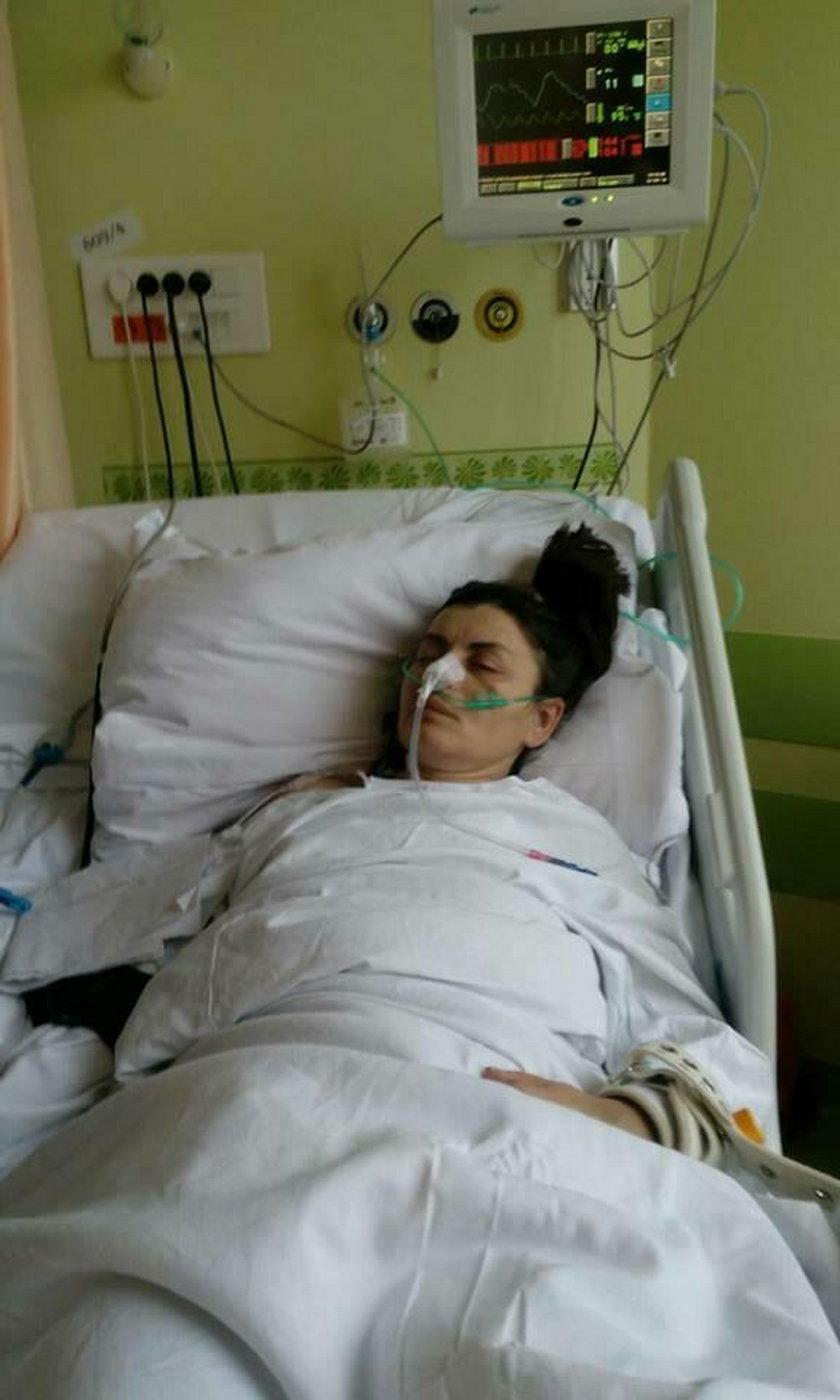 Oksana po wylewie w ciężkim stanie przebywa w szpitalu