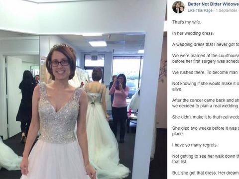 1bf06cc44b Wdowiec postanowił podzielić się swoimi doświadczeniami i fotografią  ukochanej w sukni ślubnej.