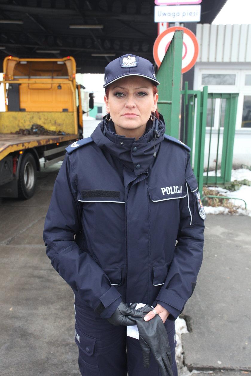 st. sierż. Bożena Schab z policji w Kwidzynie