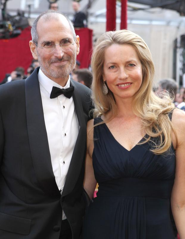 Steve Jobs i Laurene Powell w 2010 roku