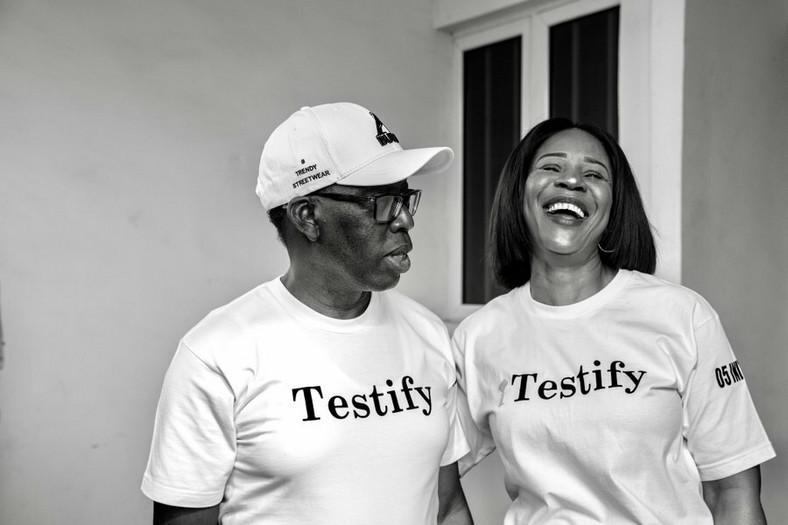 Okowa and his wife Edith (Twitter: @IAOkowa)