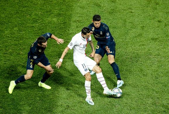 Real je u prvom kolu Lige šampiona poražen od PSŽ 3:0, a Di Marija se bivšem klubu