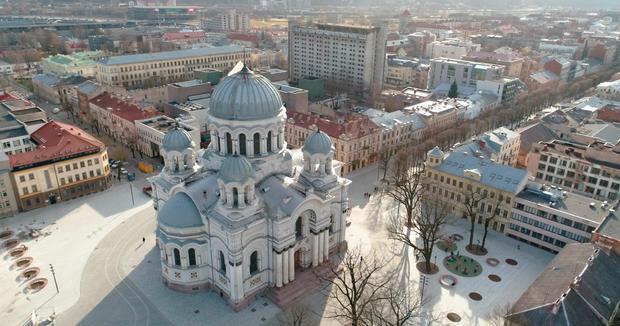 Kościół św. Michała Archanioła i Aleja. Wolności, Kowno