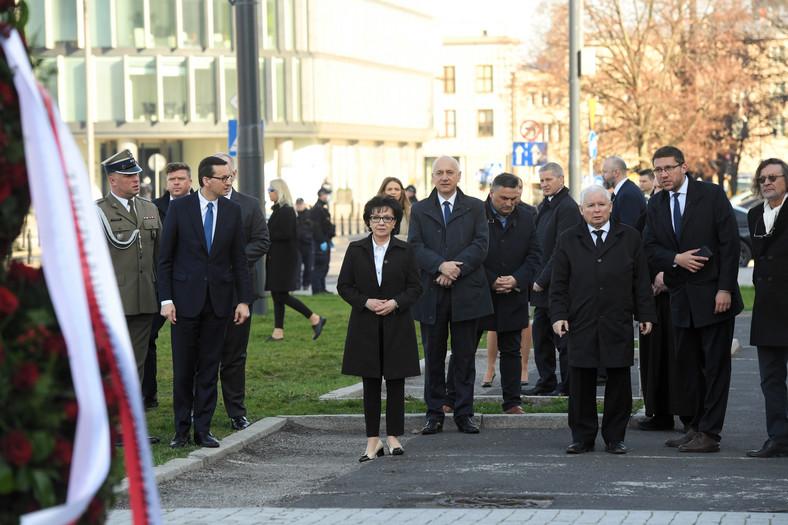 Jarosław Kaczyński, Mateusz Morawiecki, Elżbieta Witek