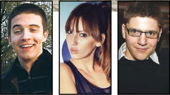 Nastradali: Miloš Janković, Anastasija Stajić i Nemanja Antić