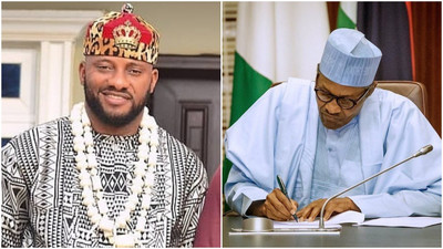 'Don't read from any paper, speak to Nigerians from your heart' - Yul Edichie advises President Muhammadu Buhari