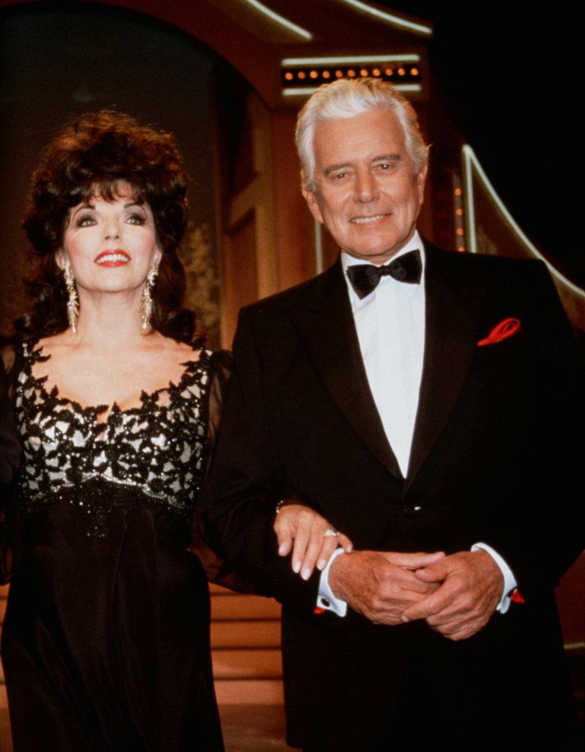 "Joan Collins i John Forsythe w ""Dynastii"""