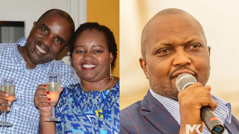 Anne Waiguru with her Husband  and Moses Kuria. Moses Kuria reveals warning message received from Ann Waiguru's husband