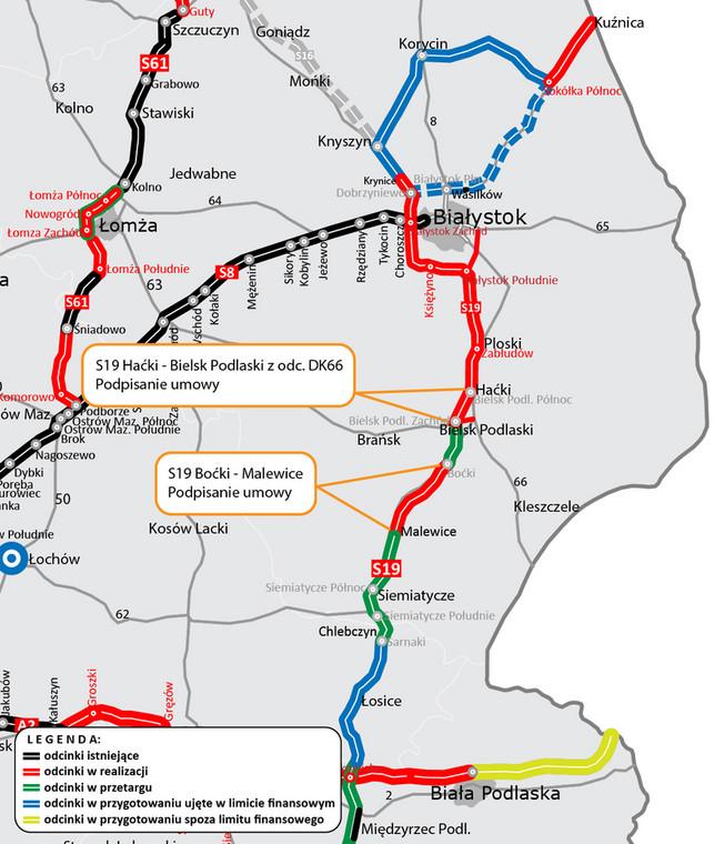 Via Carpatia będzie dłuższa o dwa nowe odcinki drogi ekspresowej S19