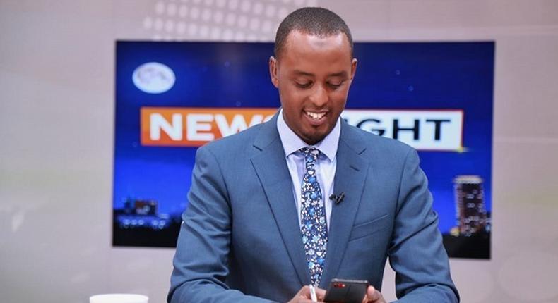 Hussein Mohamed's heartfelt message to wife during last bulletin on Citizen TV