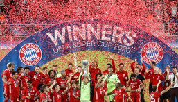 Keeping count: Bayern Munich pointed out that victory over Sevilla brought not only another tropgy but a record winning streak