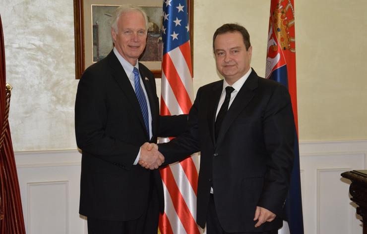 Ivica Dačić i Ron Džonson, FOTO Tanjug, MSP