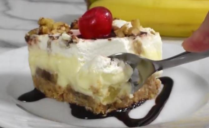 Banana split torta