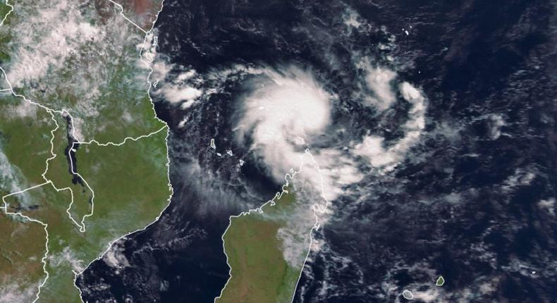 Initial stages of Cyclone Kenneth captured via satelite