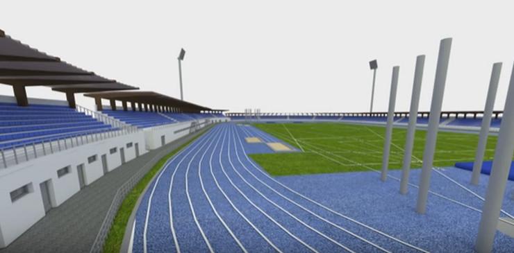 ĆUPRIJA- budući izgled stadiona
