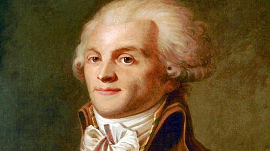 Robespierre był francuskim politykiem i prawnikiem oraz jednym z liderów rewolucji - domena publiczna