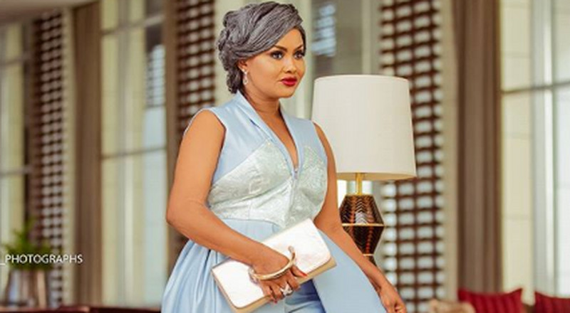 Ethereal! Nana Ama McBrown glowed in her blue ensemble for the EMY Africa Awards