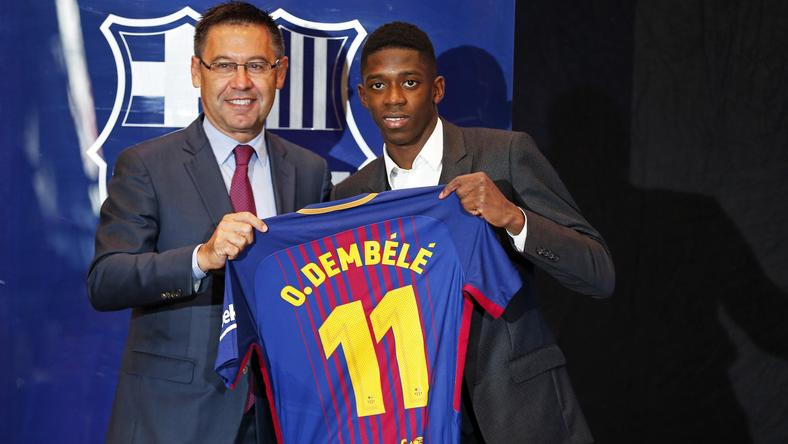 Presentation of Ousmane Dembele as new player of the PC Barcelona