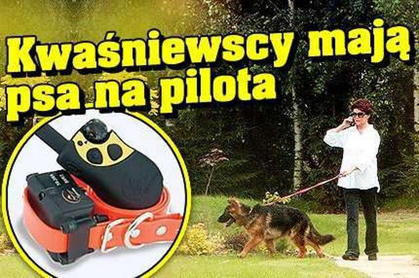 Kwaśniewscy mają psa na pilota