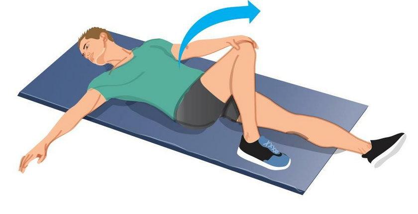 Rozciąganie mięśni kręgosłupa lędźwiowego, bioder i pośladków