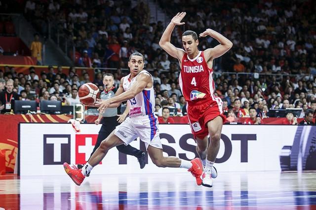 Portorikanac Anhel Rodrigez na Mundobasket meču sa Tunisom