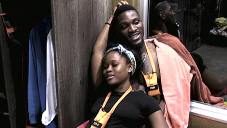 Tobi and Cee-C in  Big Brother Naija house
