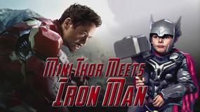 """Avengers: Czas Ultrona"": mały Thor spotyka Iron Mana"