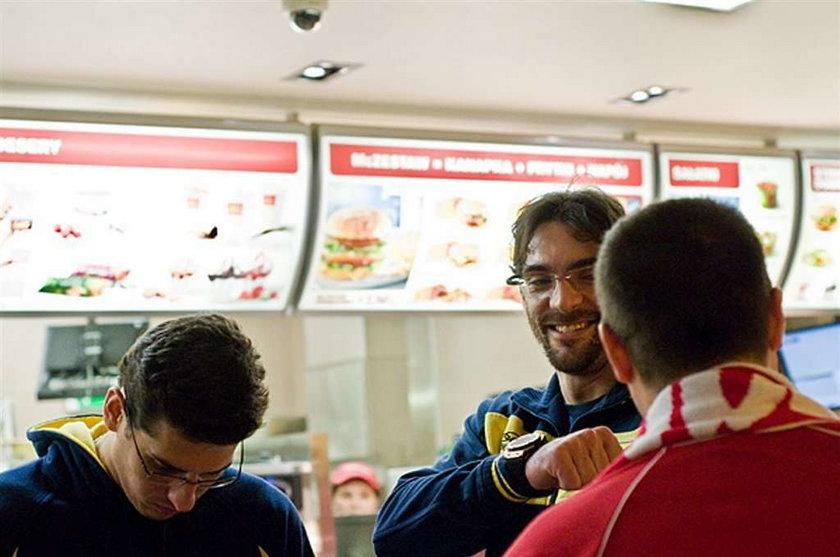 Wielkie gwiazdy w fast foodzie