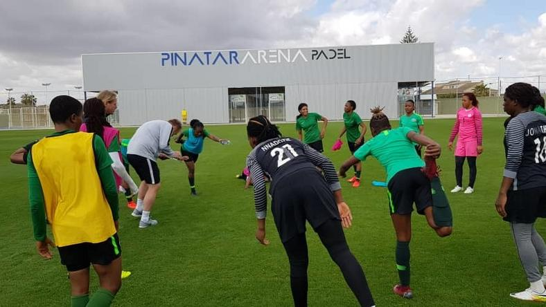 Image result for super falcons of nigeria and spain