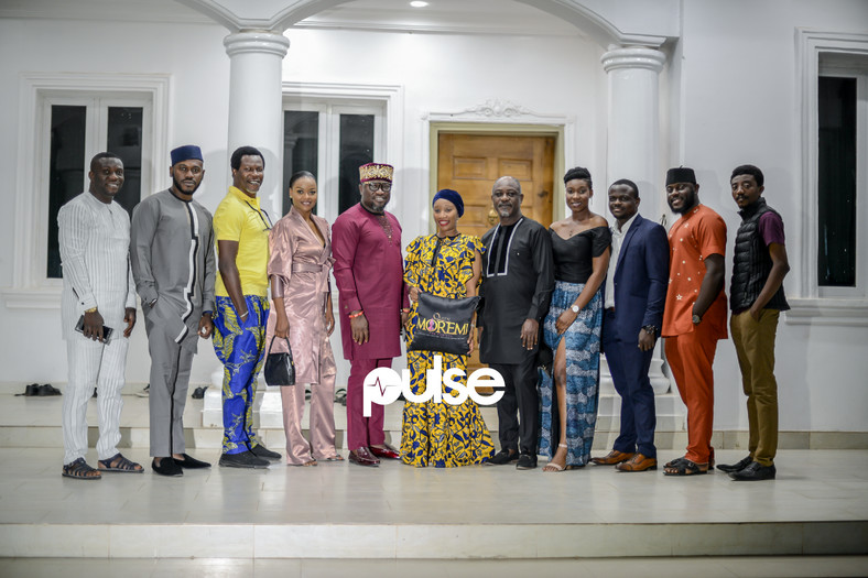 The cast and crew of Queen Moremi - The Musical at the Ooni of Ife's palace