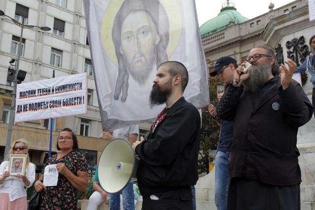 Raščinjeni monah Antonije Davidović na jednom od ranijih skupova