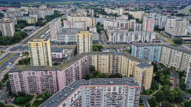 Bloki na warszawskim Gocławiu
