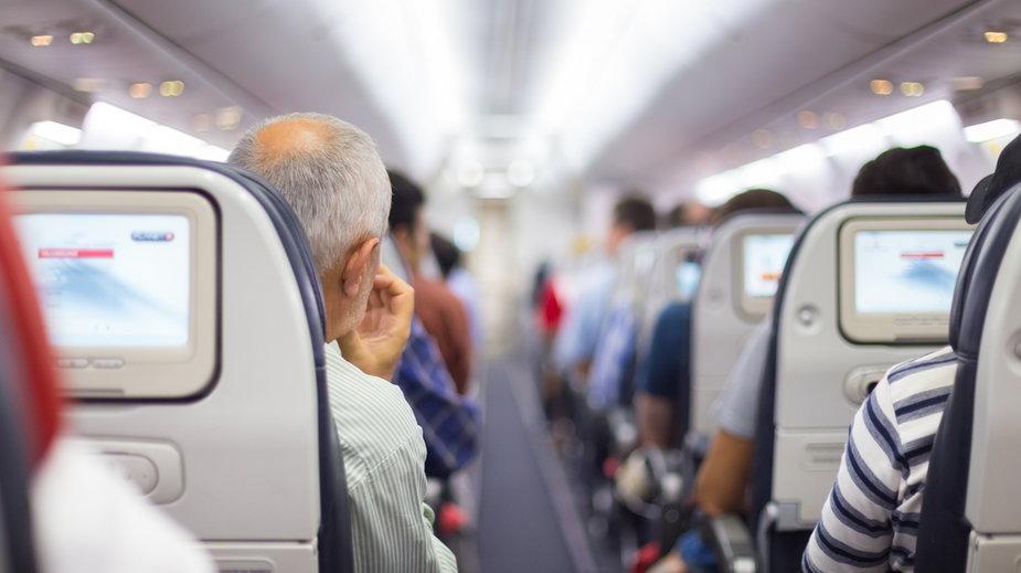 W samolocie (zdjęcie ilustracyjne)