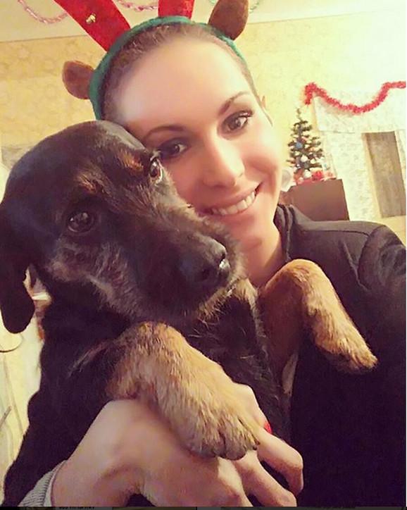 Milica Desančić sa svojim psom