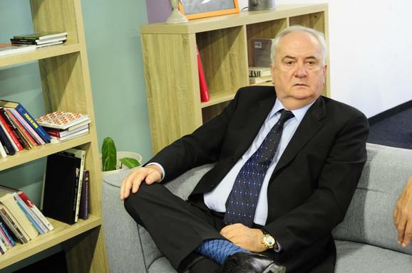 Predsednik Olimpijskog komiteta Srbije Božidar Maljković tokom posete redakciji