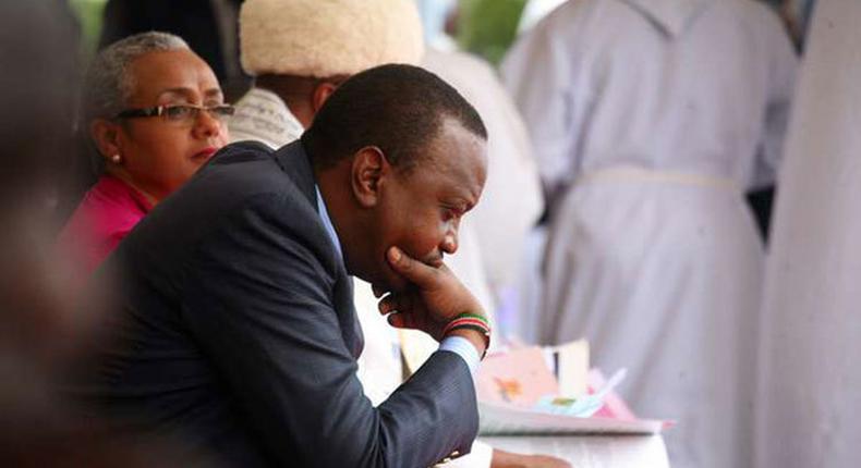 File image of President Uhuru Kenyatta with First Lady Margaret Kenyatta