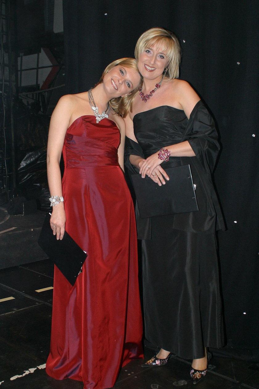 Agata Młynarska z siostrą