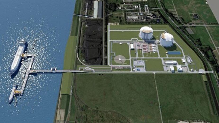 Projekt gazoportu w Brunsbuttel. Fot. German LNG Terminal GmbH