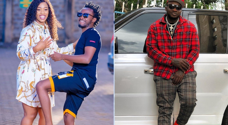 Bahati's reaction after Khaligraph Jones referred to him as 'Mtoto wa Diana' in new song