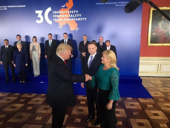 Tramp i Kolinda na samitu u Varšavi