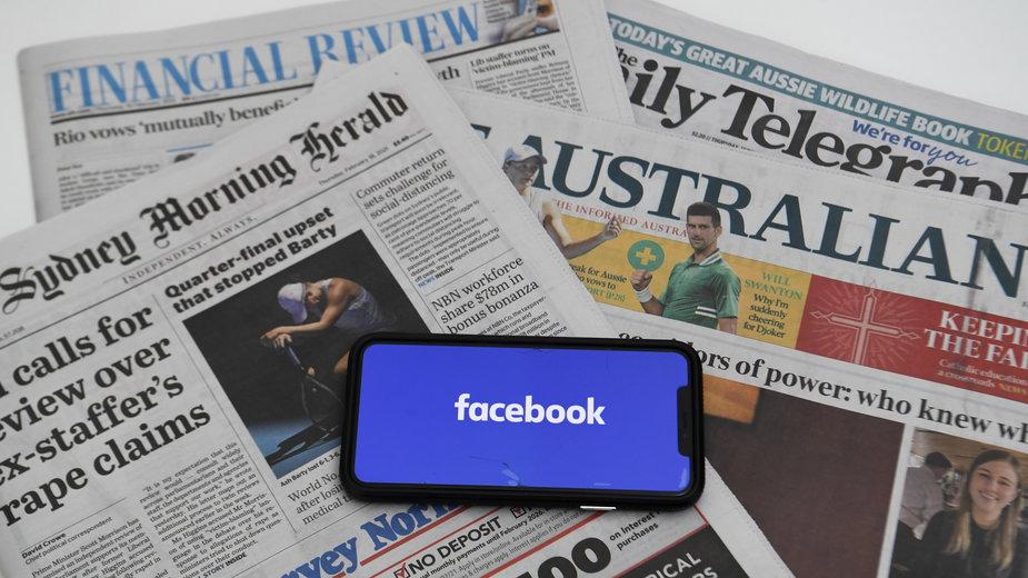 """Rząd Australii w wydanym komunikacie podkreślił, że decyzja Facebooka """"naraża na szwank jego wiarygodność"""""""