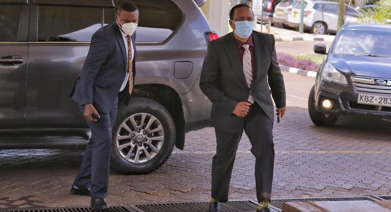 PS Karanja Kibicho arrives at DCI Headquarters