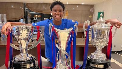 How Asisat Oshoala won a historic treble for Barcelona's women's team