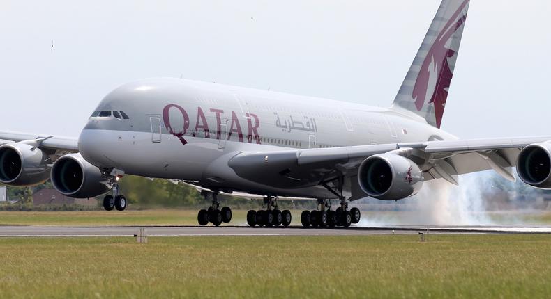 Qatar Airways Airbus A380.