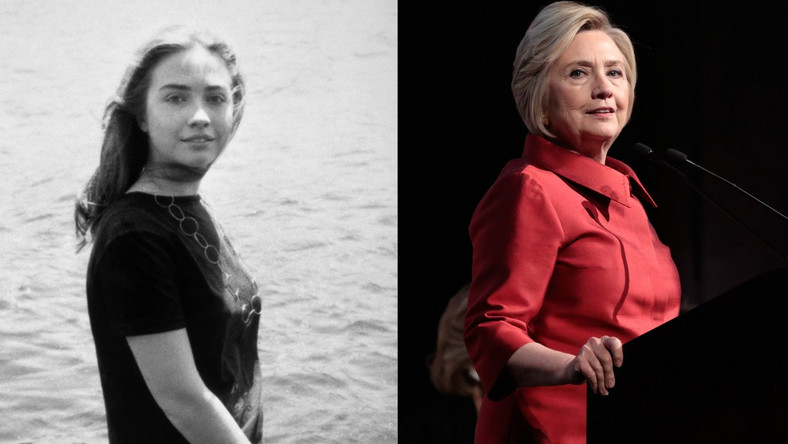 hillary clinton young and now