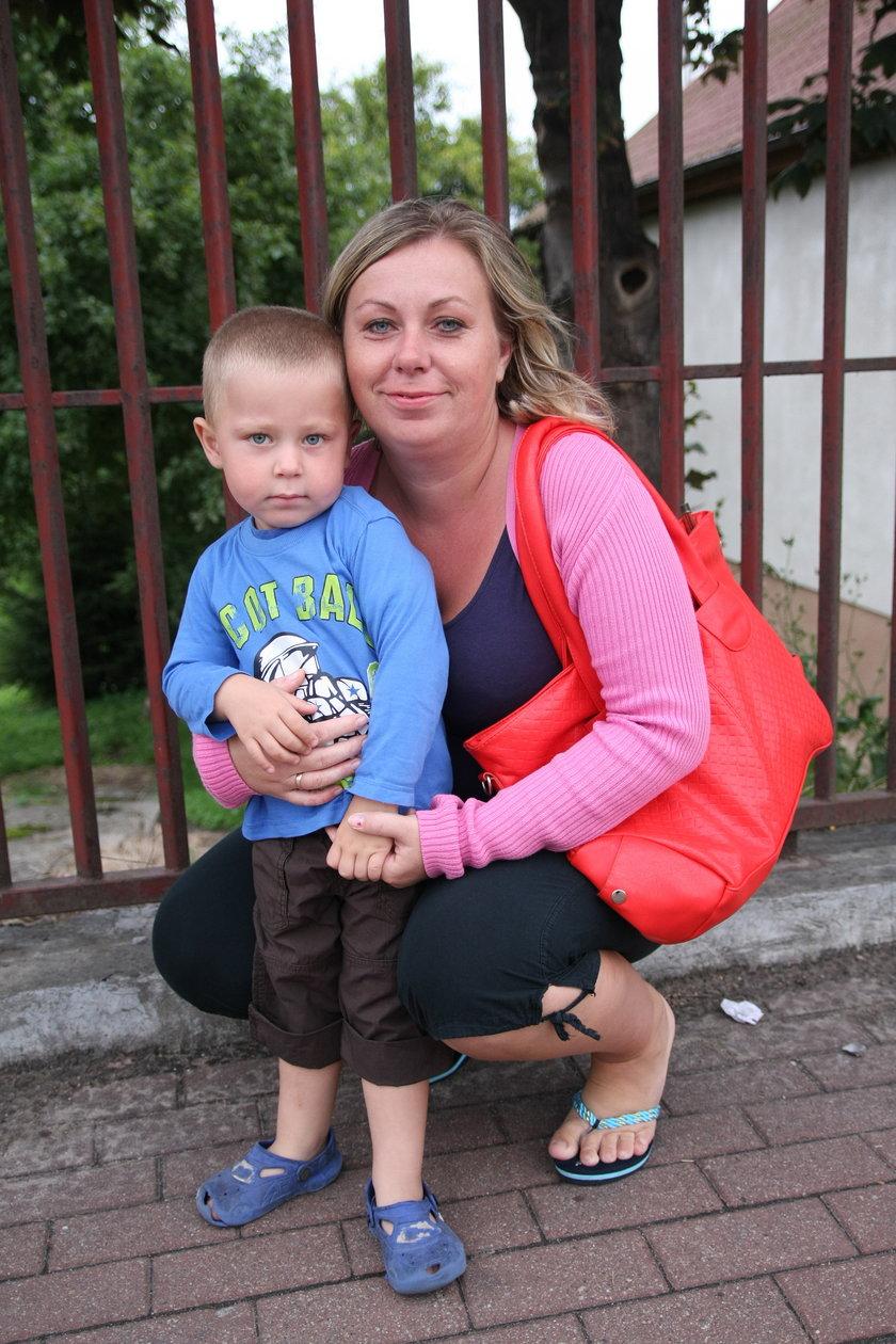 Jolanta Szurek z synem Grzesiem