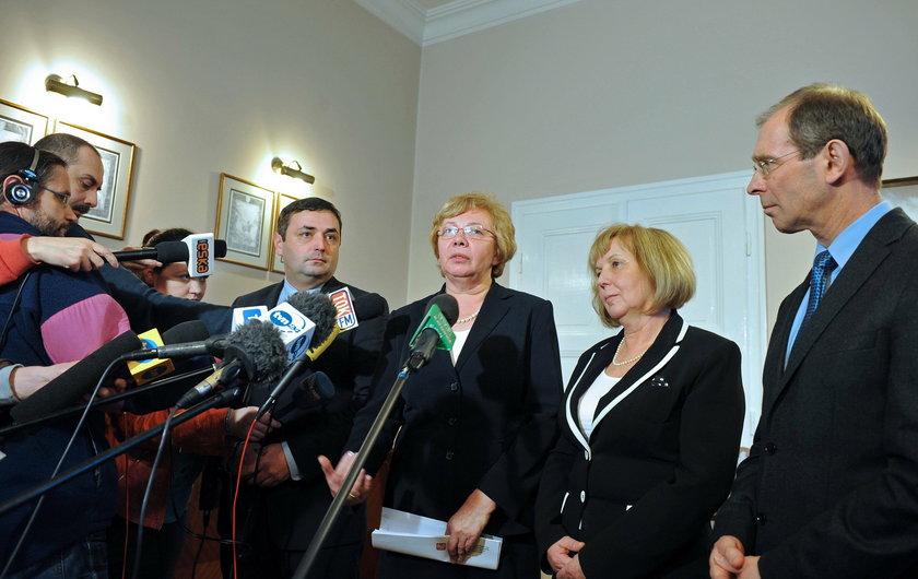 Katowice. Prezydenci Bytomia, Zabrza, Rudy Śląskiej i Gliwic po spotkaniu z ministrem Kowalczykiem