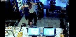 Napadł z bronią na restaurację. Klient pokonał go gołymi rękami