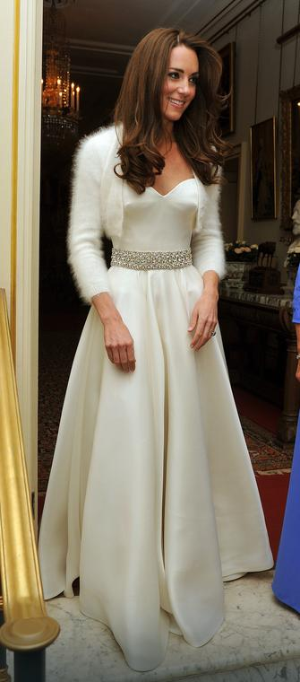Druga suknia ślubna Kate