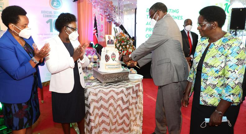 JSC throws farewell party for Chief Justice David Maraga (Photo/Courtesy)
